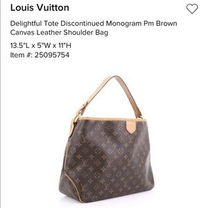 Louis Vuitton Delightful Monogram Tote
